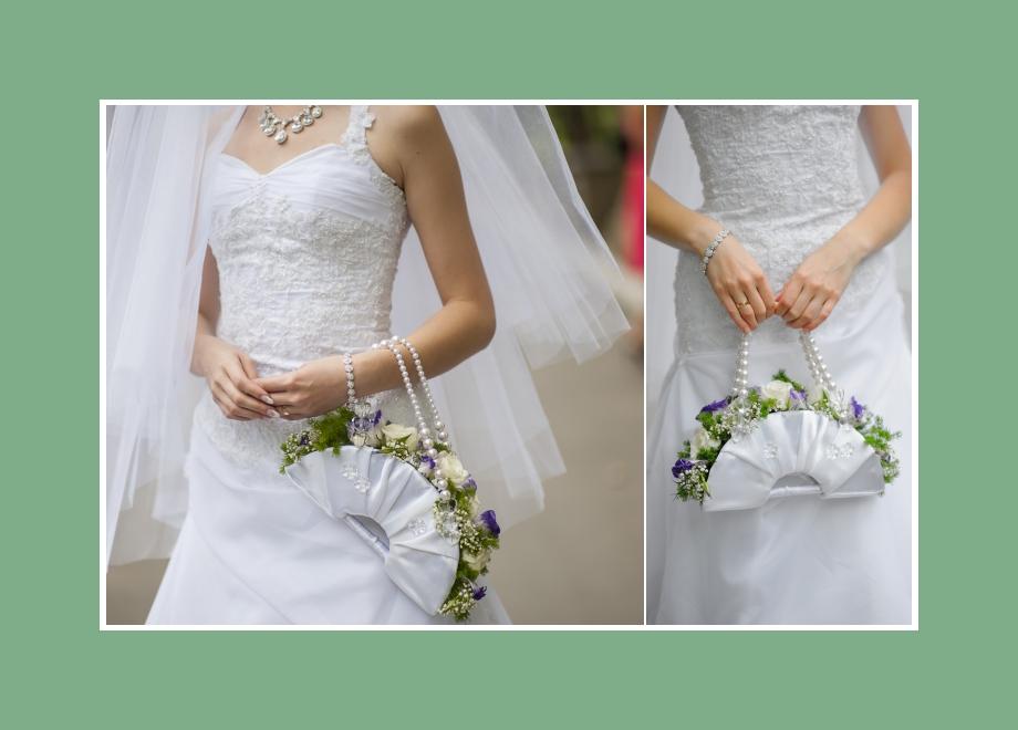 Außergewöhnlicher Brautstrauß - Tasche