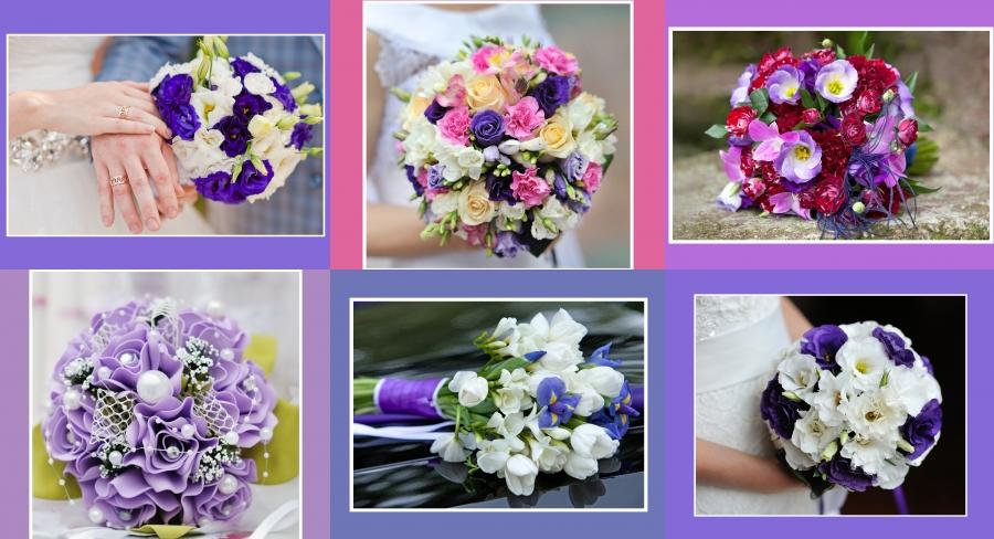 Brautstrauss lila mit freesien-veilchen2016
