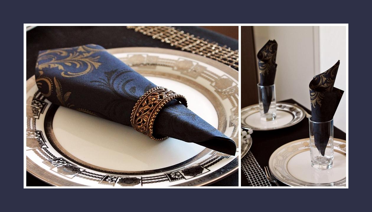 Deko Idee Taufe in Blau-Gold elegant