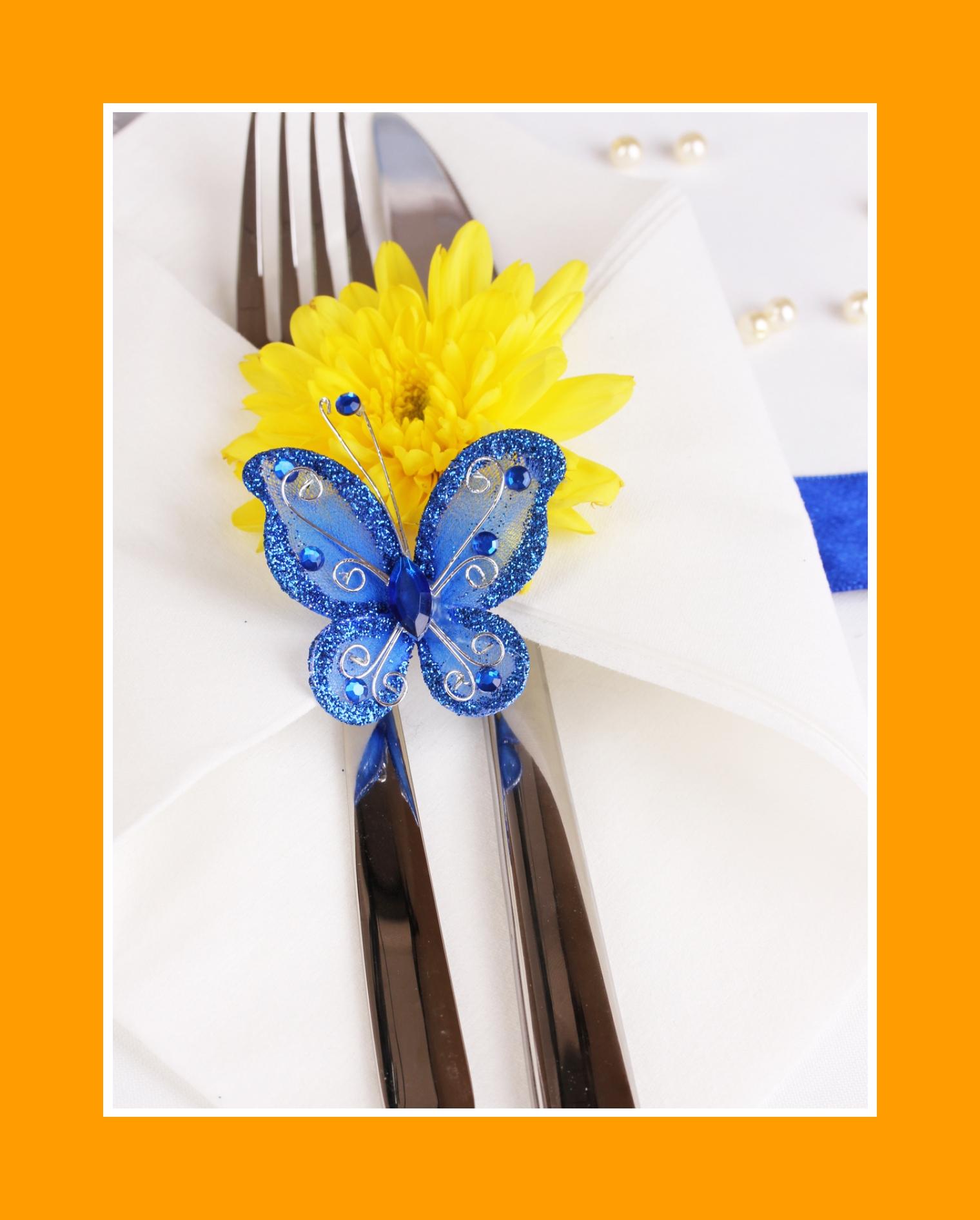 Dekoration mit Schmetterling Servietten Hochzeit