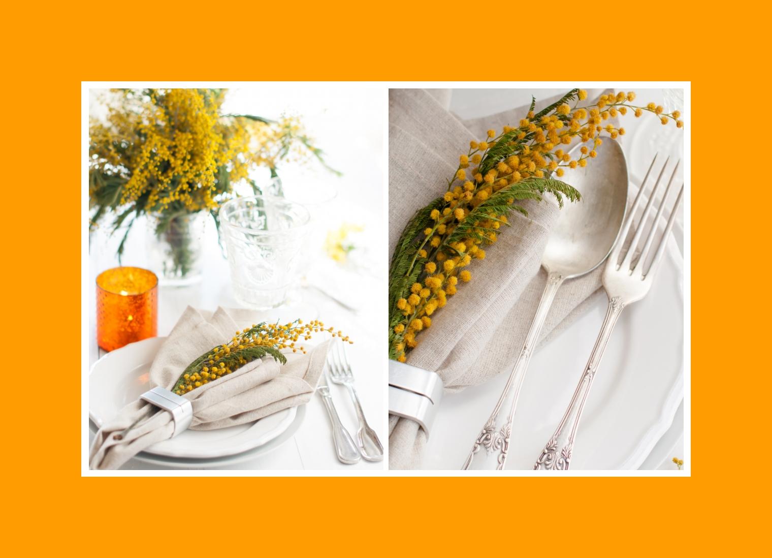 Gelbe Feldblumen Servietten Dekoration Geburtstag
