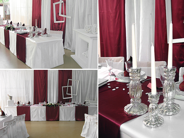 Tischdeko Hochzeit Bordeaux