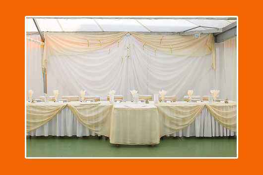 Hochzeitstisch Creme