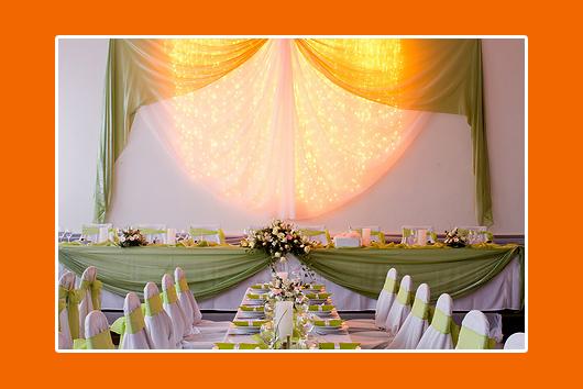 Hochzeitstisch Grün